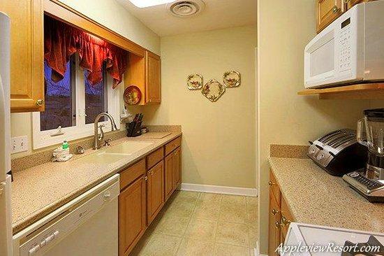 Appleview River Resort: Kitchen