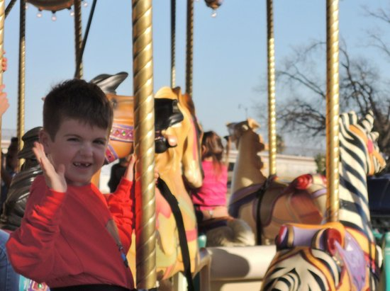 Nut Tree Family Park : 7yrs old loves the merry-go-round