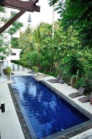 Surintra : Вид на сад, который расположен по балконами Гранд Делюксов