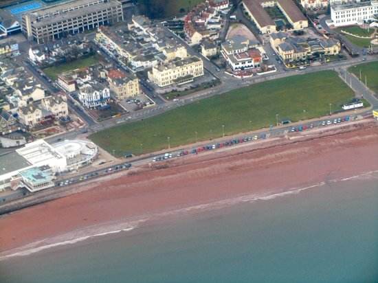 Park Hotel Ariel View We Are Right In The Middle On Paignton Seafront