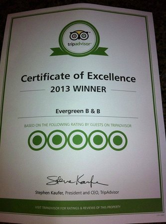 Evergreen B & B: Thank you!!!