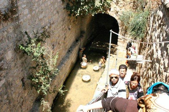 Jerusalem Walls - City of David National Park: The well of Shiloah