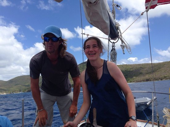 Morningstar Sailing and Power Charters : Captain Matt is a terrific sailor and a pleasure to spend the day with in the Caribbean!