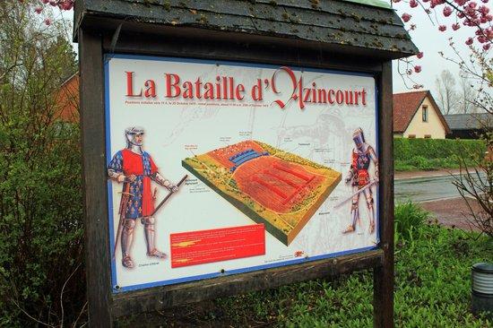 Centre Historique Medieval - Azincourt : Illustration Guide of battlefield