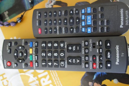 Breakfast on the Beach Lodge: dusty remotes