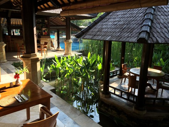 Hotel Vila Lumbung : Breakfast view from our table
