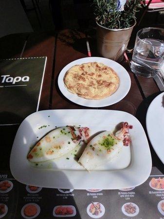 Tapa Tapa : Octopus tapas and potato omelette