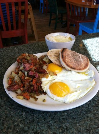 Kate's Place: Homemade corned beef hash and fresh eggs