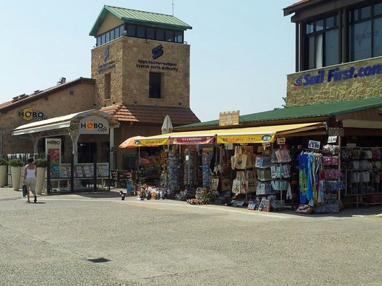 C & A Tourist Apartments: Some of the shops at Paphos harbour