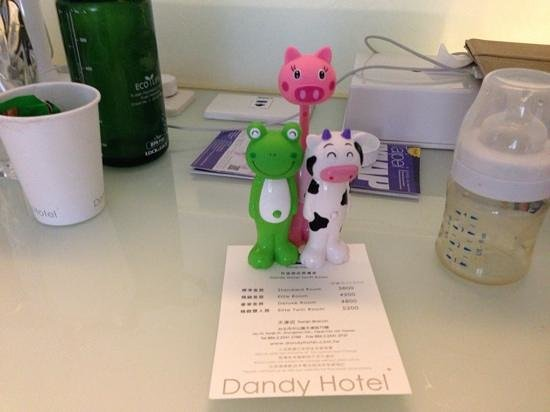 Dandy Hotel - Tianjin Branch: complimentary toothbrush from dadny for my 3kids!