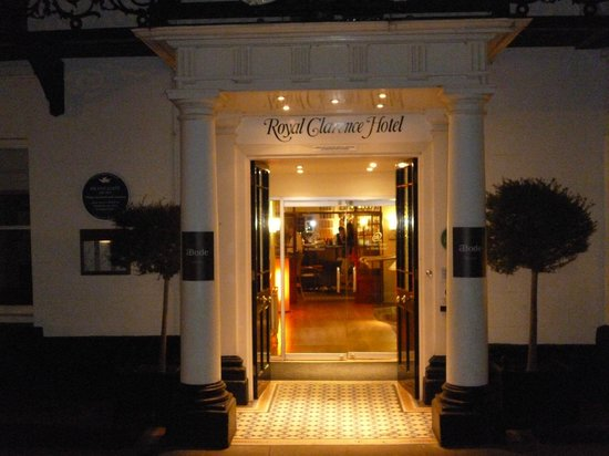 ABode Exeter: Main entrance of ABode/Royal Clarence Hotel at Cathedral Yard in Exeter