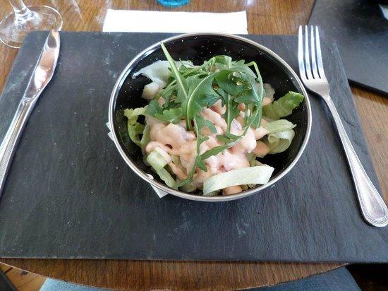 Bryn Tyrch Inn: Prawn salad