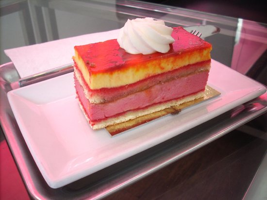 The Taste Factory : Layered Raspberry/Mango Mousse Cake