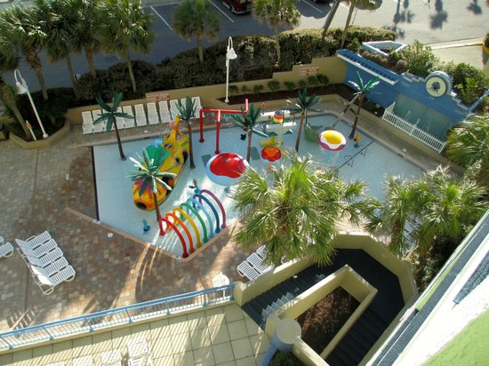 Coral Beach Resort & Suites: View of a children's pool area from 640