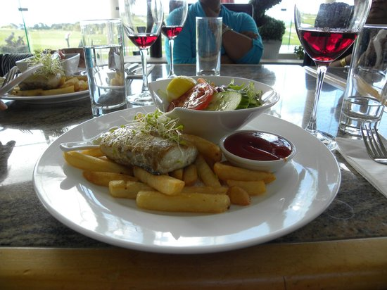 Formosa Golf Resort: my fancy fish n chups at the restaurant