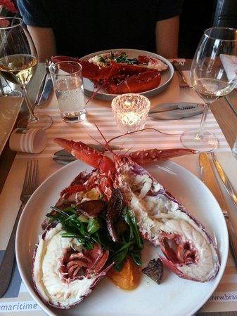 Brasserie Maritime : Eerste Oosterscheldekreeft van het seizoen voot ons 1-04-2014