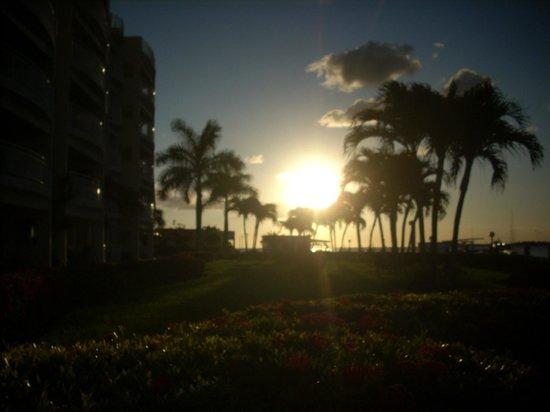 The Villas at Simpson Bay Beach Resort & Marina : Sunset View From Room