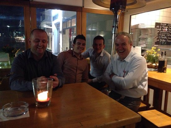 A great evening in pizzeria Milano with the owner