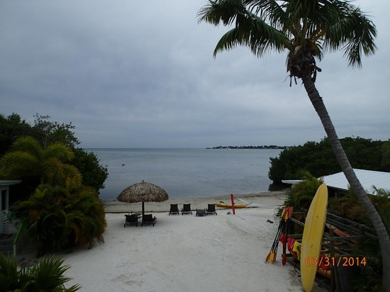 Little Conch Key: View of beach from cottage