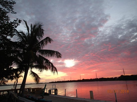 Little Conch Key : Sunset from pier