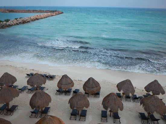 Now Jade Riviera Cancun: View from our balcony straight ahead