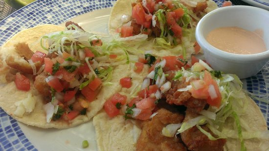 Now Jade Riviera Cancun: Fish Tacos at Castaways. Good.
