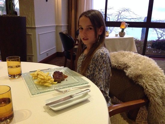 Hotel The Cliff Bay: My doughter's Allison first experience in a Michelin star restaurant ..