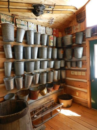 Wheelers Maple Museum: More maple sap pails
