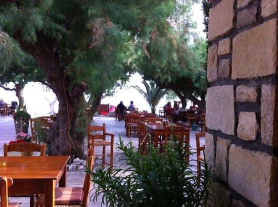 Damnoni Taverna: Next to the rocks..