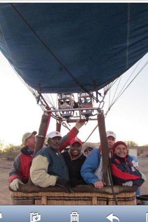 Foolish Pleasure Hot Air Balloon Rides: Sky ride w/Dad and U of A fans