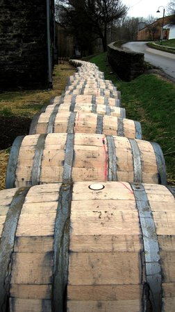 Woodford Reserve Distillery: On the rails and ready to age