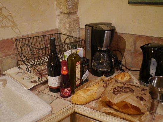 Le vieux Moulin de Crillon : In the kitchen La Riviere