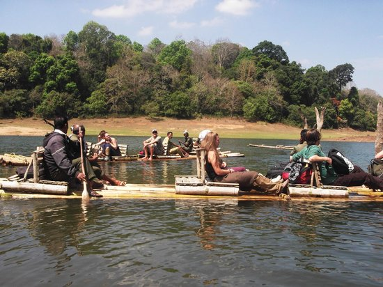 Bamboo Rafting in the Periyar Wildlife Sanctuary