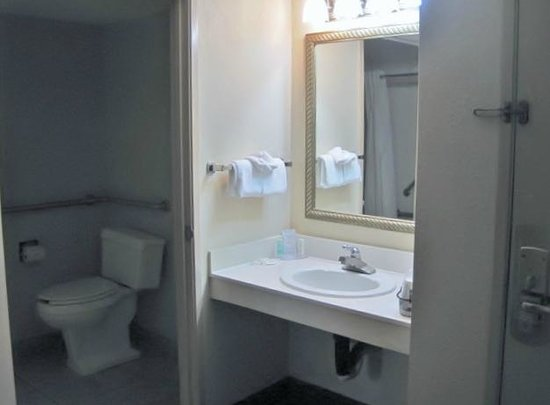 Rodeway Inn & Suites West Knoxville: Sink is separate from a large bathroom