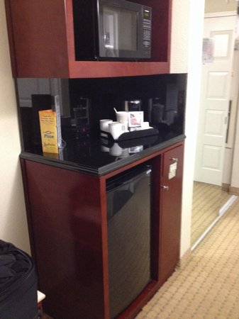 Radisson Hotel Orlando - Lake Buena Vista: Fridge and microwave