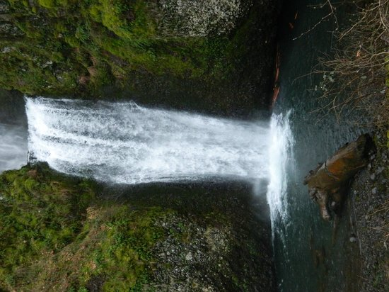 Columbia River Gorge National Scenic Area: Lower half of the gorgeous Multnomah Falls