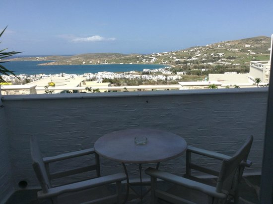 Sunset View: View from our balcony at Sunsetview Paros