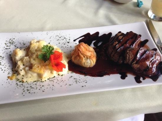 Pousada Tankamana : um dos pratos do restaurante