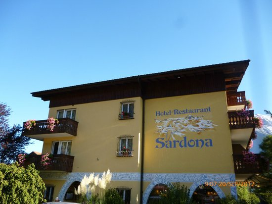 Sardona Hotel: Front of hotel from road