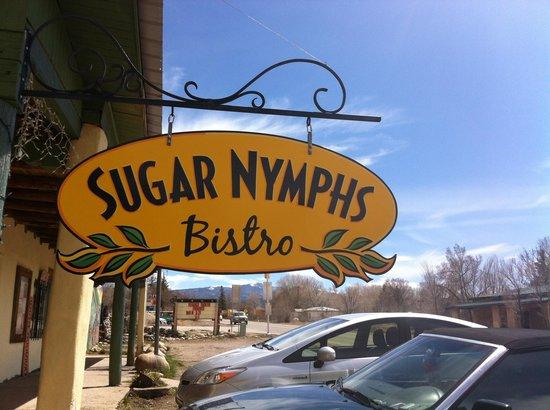 Sugar Nymphs Bistro: The sign is now orange!