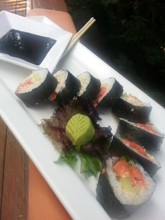 Farrar's Bistro: wild caught and smoked sushi rolls