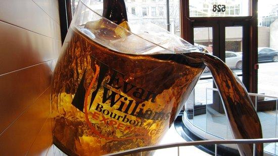 Evan Williams Bourbon Experience: Giant bourbon glass in the lobby