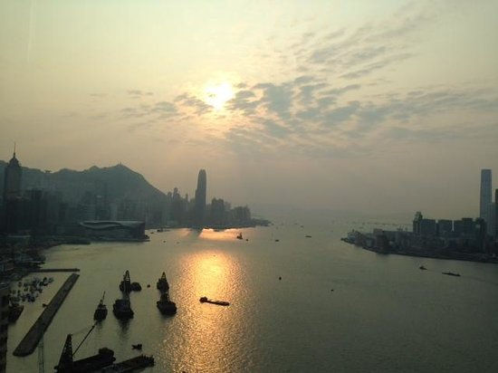 Harbour Grand Hong Kong: View from the Club Lounge on 41st floor
