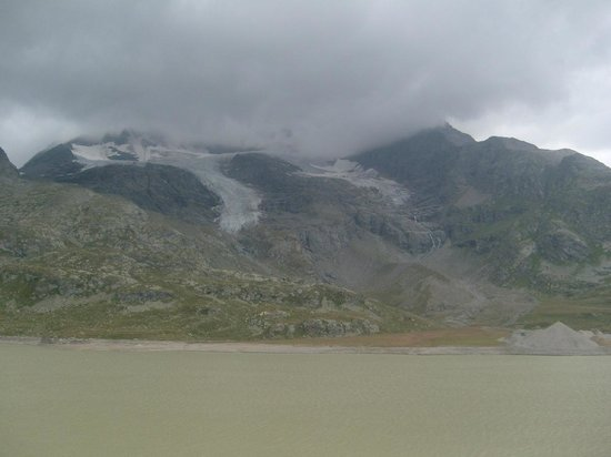 Bernina Pass: view - close to Ospizio Bernina station