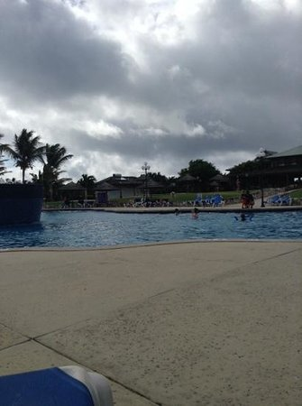 The Verandah Resort & Spa : view from the pool deck on the only cloudy day of the entire week