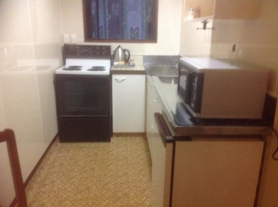 Airport Lodge Motel : kitchenette
