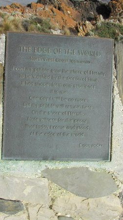 The plaque at the Edge of the World