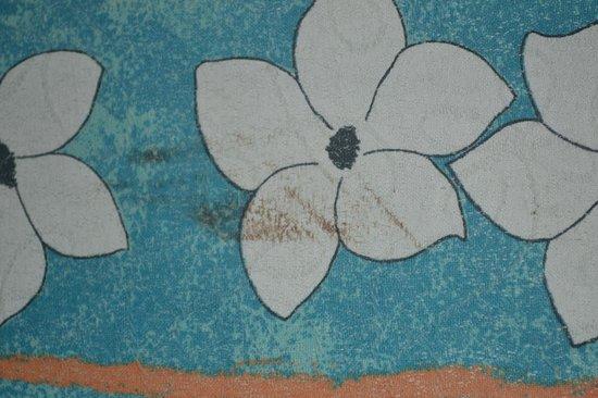 Brisas del Caribe Hotel: manchas en el cubre cama