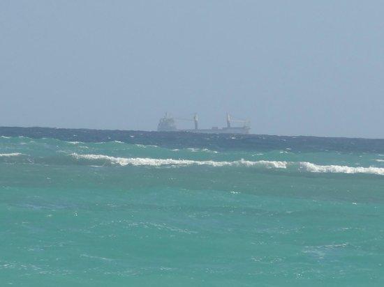 Grand Bahia Principe Punta Cana: far away view of ship