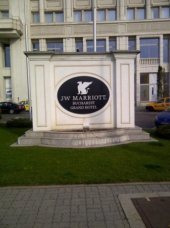JW Marriott Bucharest Grand Hotel : Sign in front